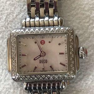 Michele Deco Diamond Bezel Watch